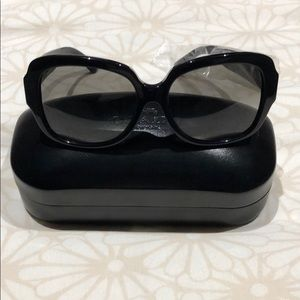 Coach Zoey Heart sunglasses in black with case.